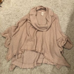 Pale Pink Free People Short Sleeve Sweater